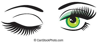 Grüne Augen.