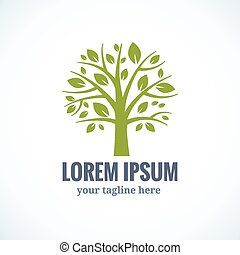 Grüne Baum-Vektor-Logo-Design Vorlage