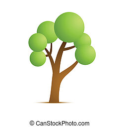 Grüne Baumvektor-Ikone