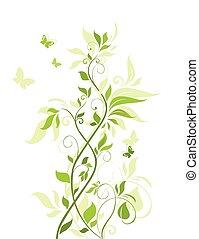 Grüne Blumengrenze.