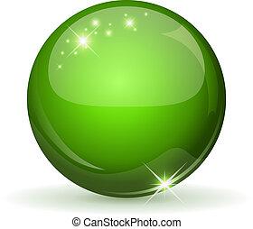 Grüne GIossysphäre isoliert auf Witterung