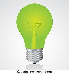 Grüne Glühbirne