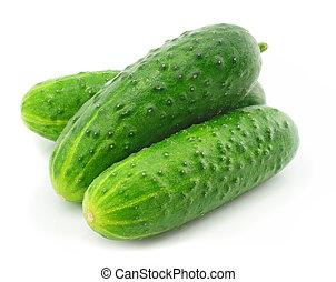 Grüne Gurke-Gemüse-Fruchtmittel isoliert