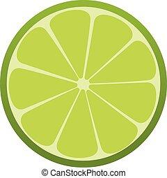 Grüne Limette. Citrus. Ein erfrischender Drink. Vector Illustration.