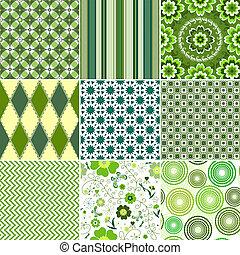 Grüne nahtlose Muster