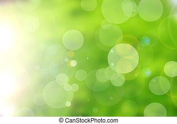 Grüne Natur, abstrakter Hintergrund.