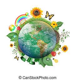 Grüne Natur-Ikone