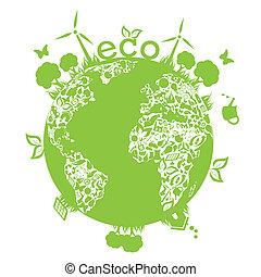 Grüne saubere Erde