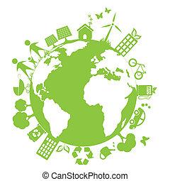 Grüne saubere Umwelt