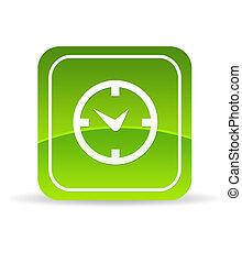 Grüne Uhr-Ikone