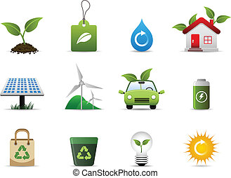 Grüne Umwelt-Ikone