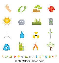 Grüne Umwelt-Ikonen