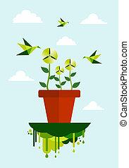 Grüne Umwelt sauber Energiekonzept