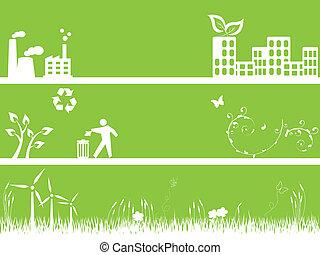 Grüne Umwelt und Stadt