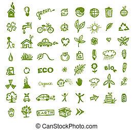 Grüne Umweltzeichen für Ihr Design.