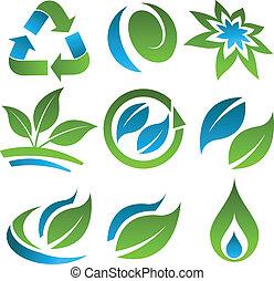 Grüne und blaue Energieeinsparungen