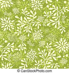 Grüne Unterwasseranlagen nahtlos Muster Hintergrund.