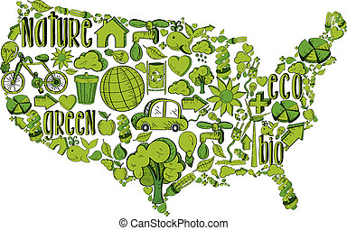 Grüne USA mit Umweltzeichen