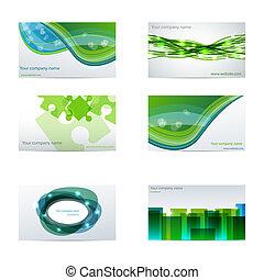 Grüne Visitenkarten
