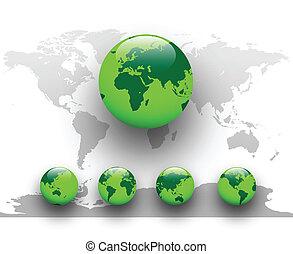 Grüne Welt, Erde.