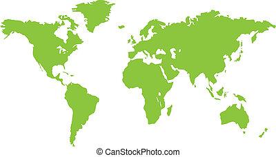 Grüne Welt-Landkarte