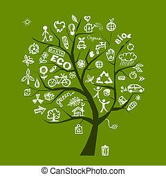 Grüner Ökologiebaum für dein Design