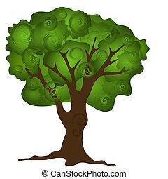 Grüner abstrakter Baum.