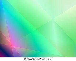 Grüner, abstrakter, glänzender Hintergrund mit Welle.