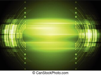 Grüner, abstrakter Technologie Hintergrund