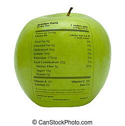 Grüner Apfel mit Nährstoff