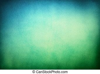 Grüner, blauer Hintergrund