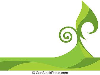 Grüner Blumen Hintergrund