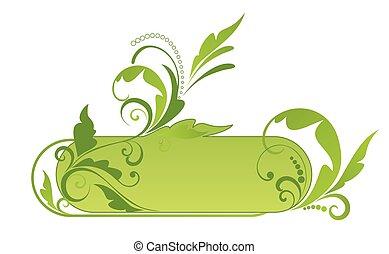 Grüner Blumenrahmen.