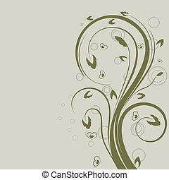 Grüner Blumenvektor-Entwicklungselement mit Kopienraum.