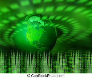 Grüner digitaler Planet