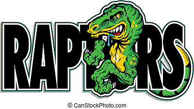 Grüner Dinosaurier Raptor Design