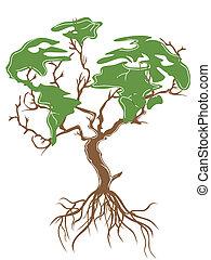 Grüner Erdenbaum