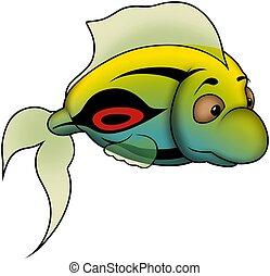 Grüner Fisch