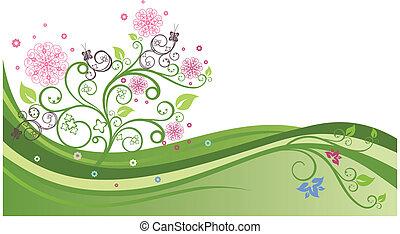 Grüner Frühlingsfeld 1