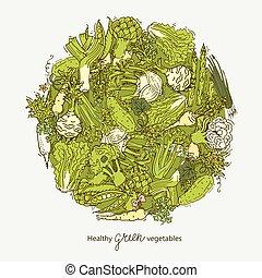 Grüner Gemüseball