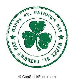 Grüner Gummistempel. Happy St. Patricks Day