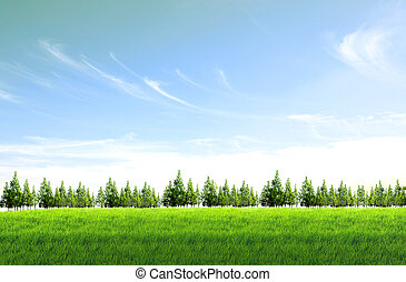 Grüner Himmel im Hintergrund