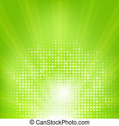 Grüner Hintergrund mit Sonnenbrand