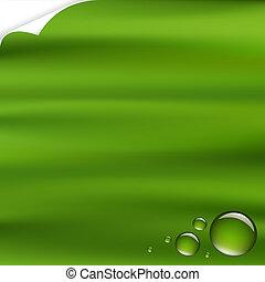Grüner Hintergrund mit Tropfen