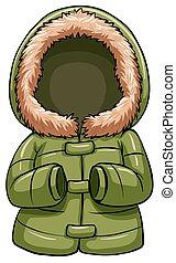 Grüner Körperwärmer.