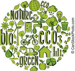 Grüner Kreis mit Umweltzeichen