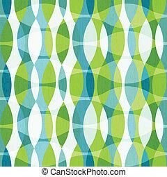 Grüner Kurven nahtloses Muster mit grunge Wirkung