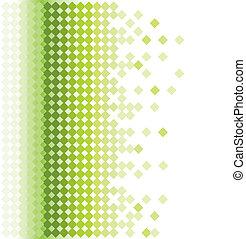 Grüner mosaischer Hintergrund abbrechen