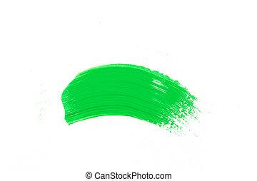 Grüner Pinselstrich.