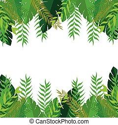 Grüner Rahmen lässt Naturdesign.
